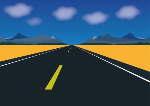 expressway road mountains