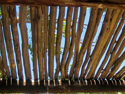 Exterior Roof Constructed Of Poles