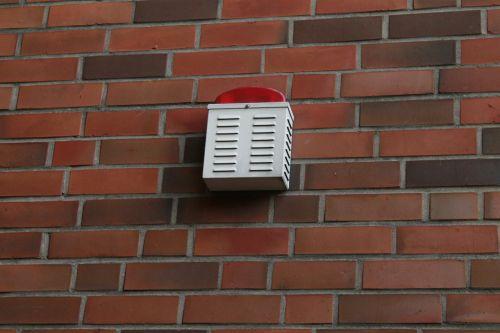 external alarm signal light wall