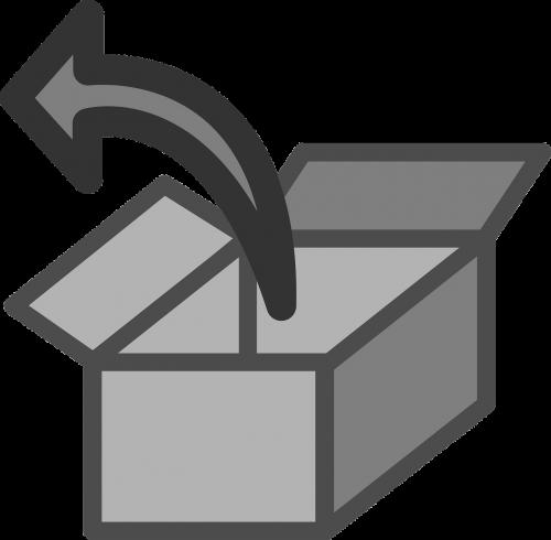 extract box arrow
