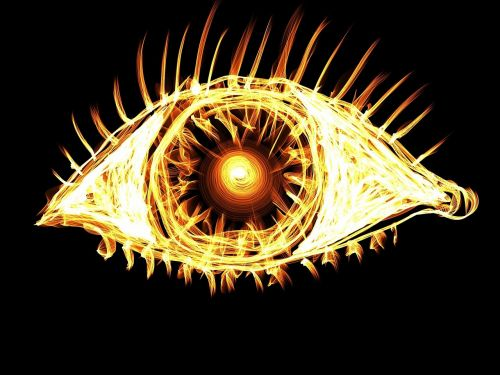 eye bright light