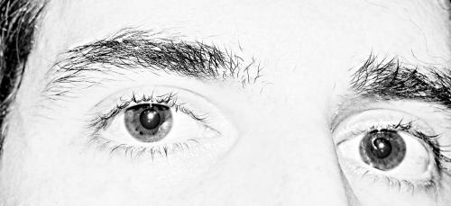 eye eyebrow monochrome