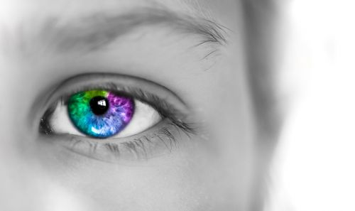 eye colorful girl