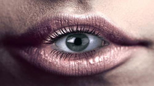 eye mouth lips