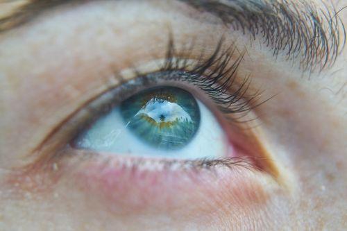 eye macro blue