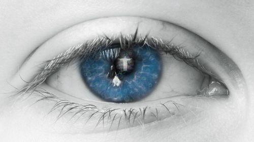 eye blue human