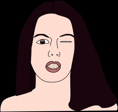 eye women wink