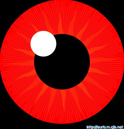 eye iris red