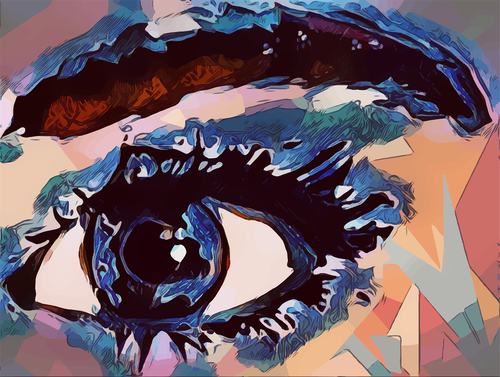 eye  blue  abstract
