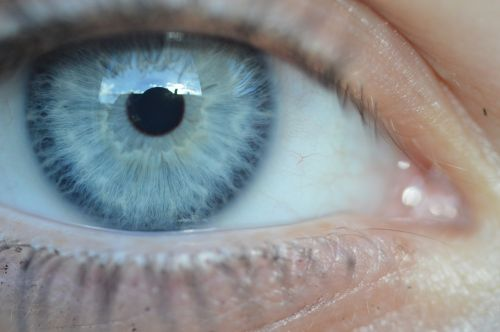 eye blue pupil