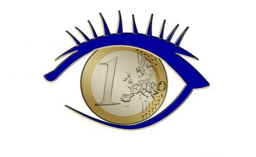 eye euro currency