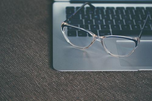 eyeglasses glasses keyboard