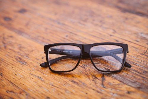 eyeglasses glasses table