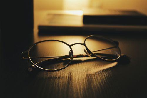 eyeglasses eyewear table