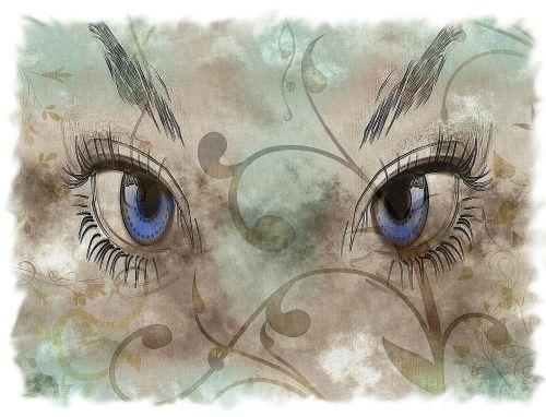 eyes woman eyelashes