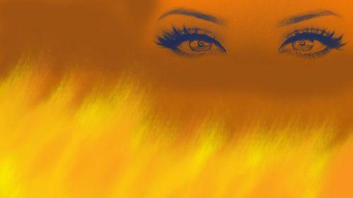 eyes abstract vision