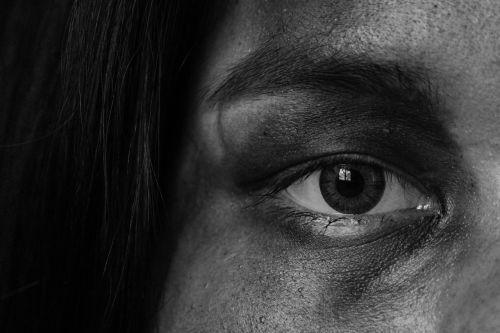 eyes fine arts black and white