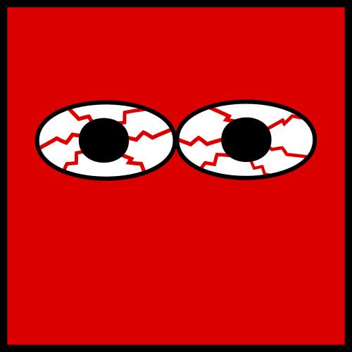 eyes bloodshot pupil