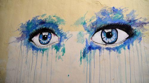 eyes grafiti eye staring at
