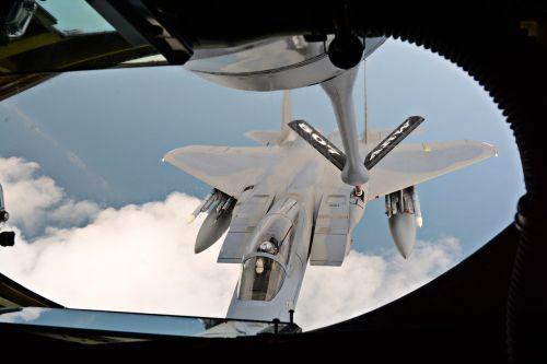 f-15c eagle refueling usaf