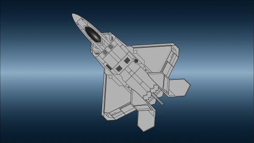 f22 raptor airplane