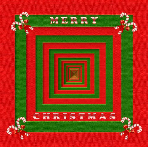 fabric 3d merry christmas