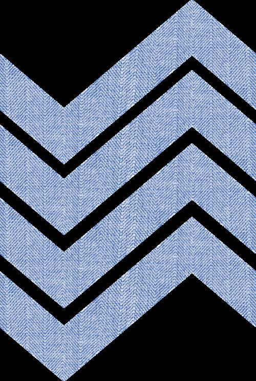 fabric chevrons blue