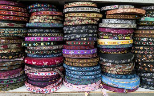 fabric ribbon striped ground