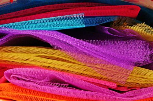 fabric tulle colorful