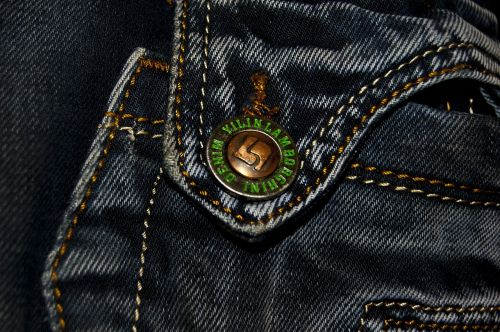 fabric jeans button