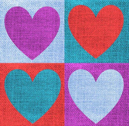 fabric heart love