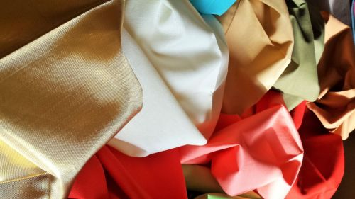 fabrics colors silky