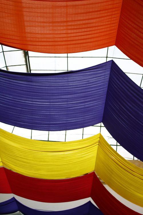 fabrics ceiling glass