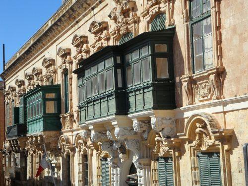 fasadas,Hauswand,pastatas,balkonai,langas,priekinis langas,architektūra,malta