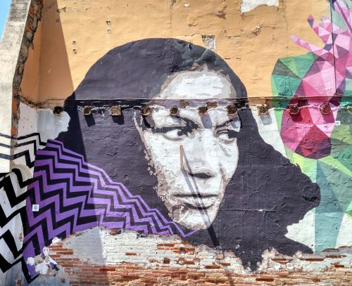 wall painted street art