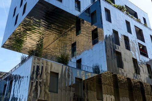 fasadas,metalas,Lyon,susivienijimas,architektūra,pastatas,šiuolaikinė architektūra,france