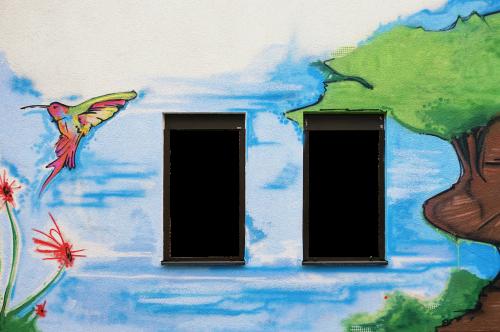 facade wall window
