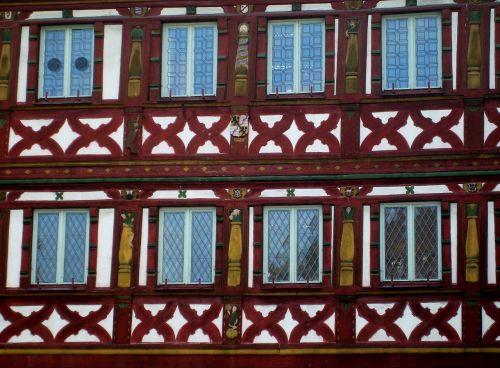 facade truss wood