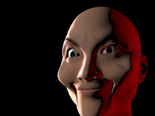 face portrait close up