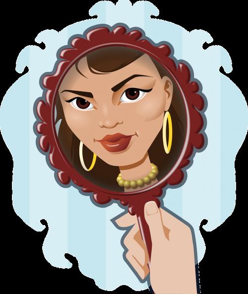 face mirror woman