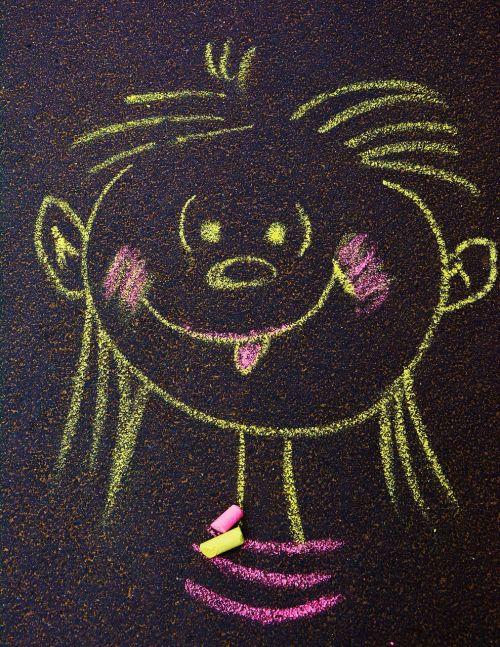 face chalk street chalk