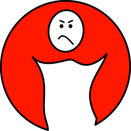 face red upset