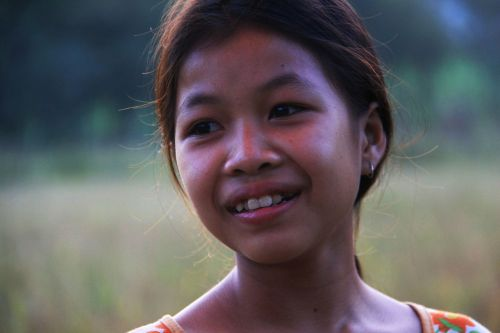 face girl laos