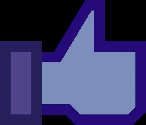 facebook blue button