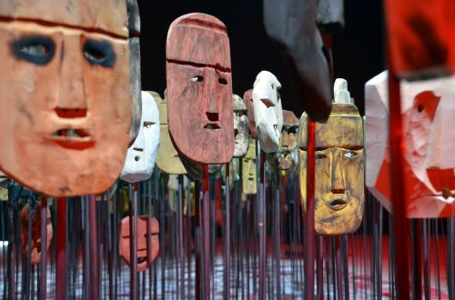 faces masks heads
