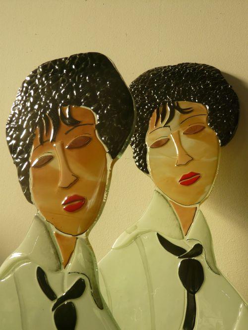 faces female ceramic