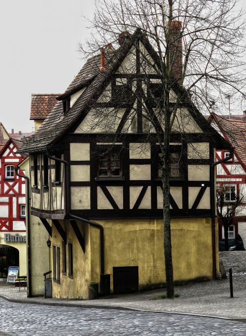 fachwerkhaus,istoriškai,Senamiestis,pastatas,stogas,lankytinos vietos,santūra,karjero akmuo,natūralus akmuo,Hersbruckas,Viduramžiai,fasadas,francūzų kalba,romantiškas,architektūra,miesto vaizdas,bavarija