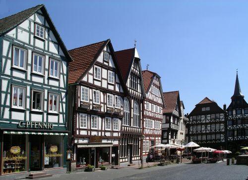 fachwerkhäuser old town marketplace