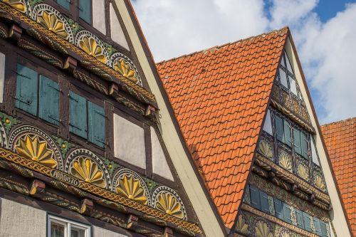 fachwerkhäuser facade truss