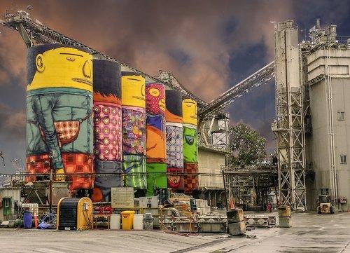 facility  cement silo  industrial